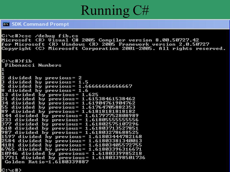 Running C#