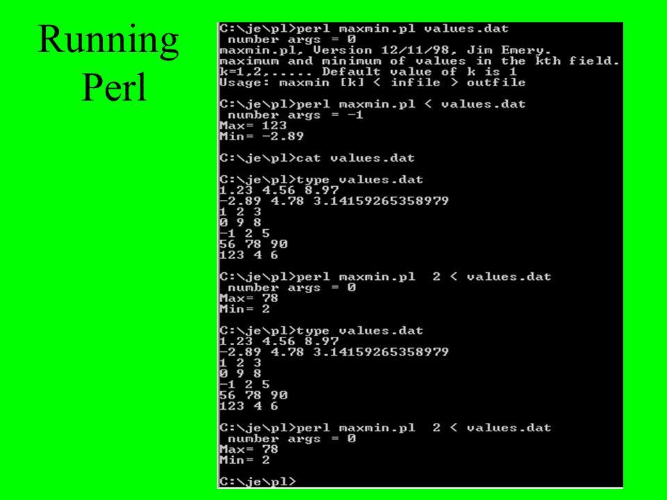 Running Perl
