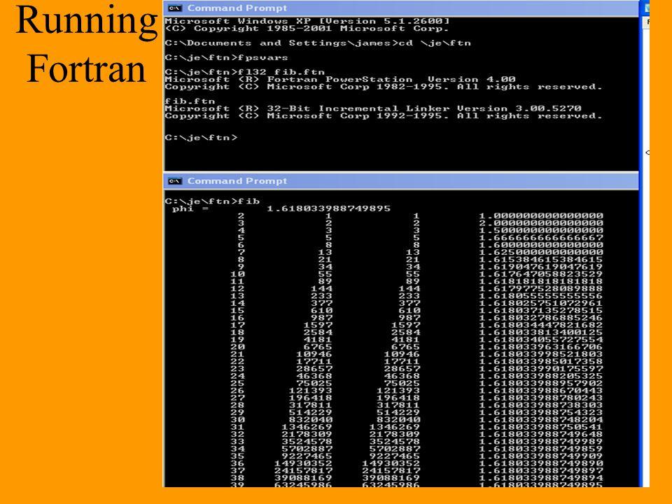 Running Fortran