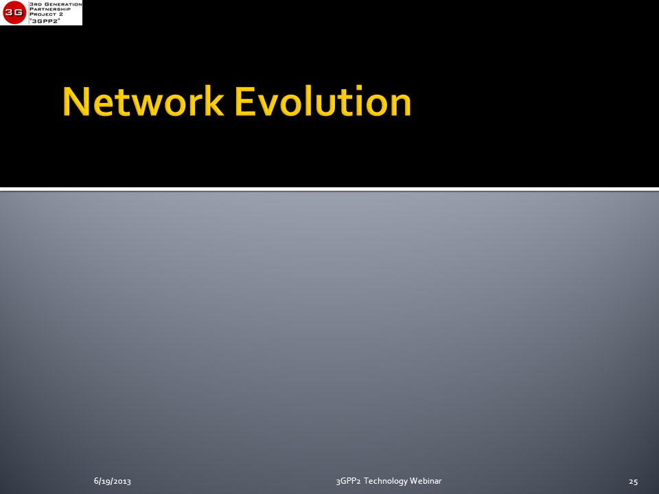 6/19/20133GPP2 Technology Webinar25