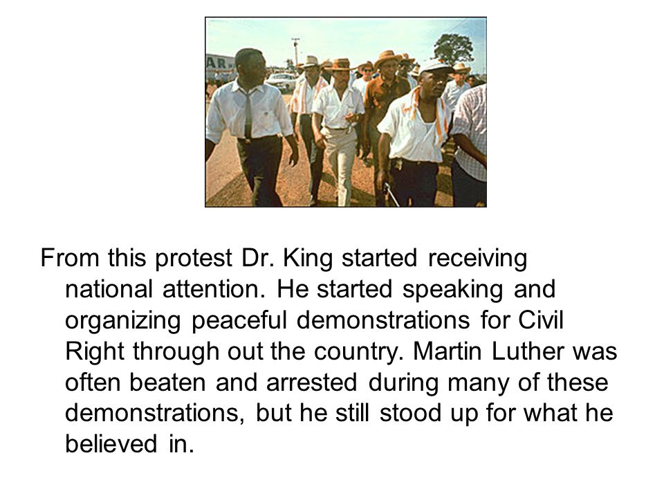 In 1963, Dr.King organized the March on Washington .