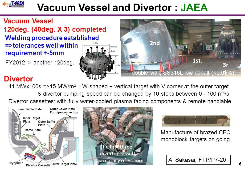 1st. 2nd 3r d Vacuum Vessel 120deg. (40deg.