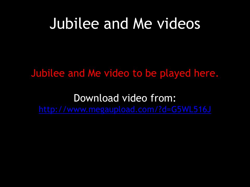 Jubilee and Me videos Jubilee and Me video to be played here.