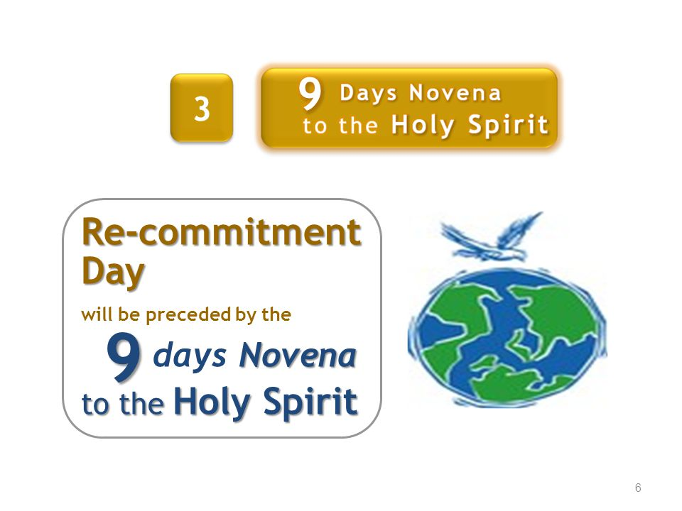 7 23 rd May 2010 We RECOMMIT Ourselves and Our Movement to Jesus and His mission on this special day.