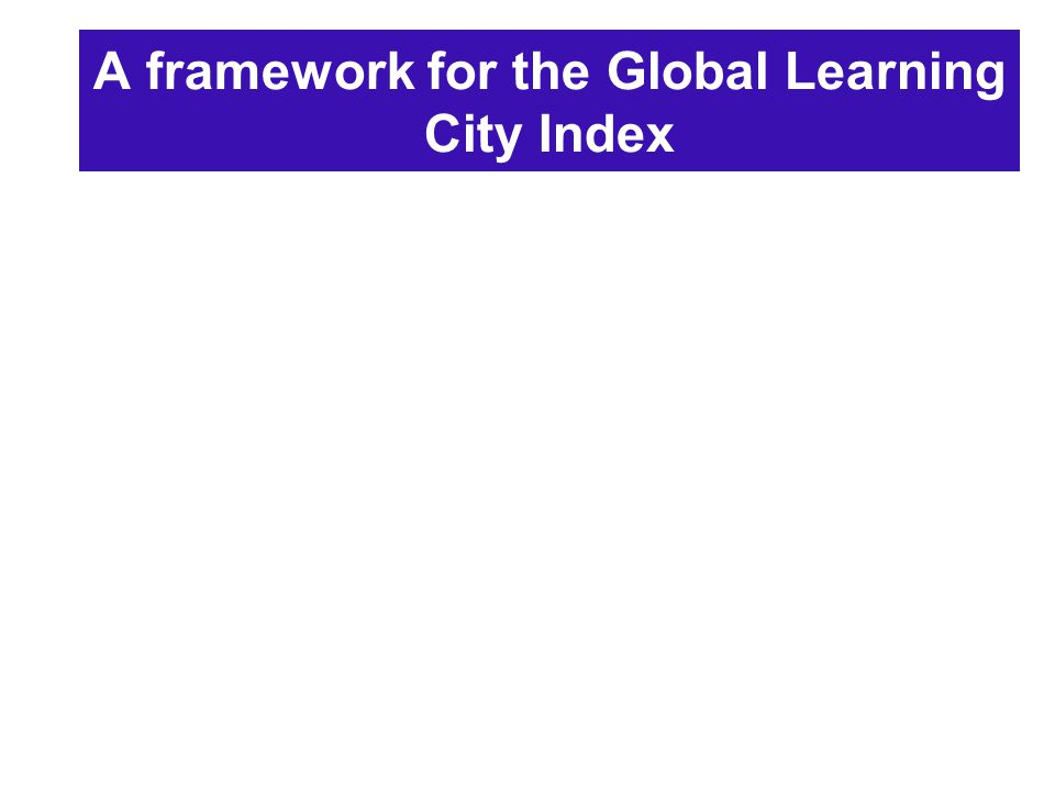 A framework for the Global Learning City Index