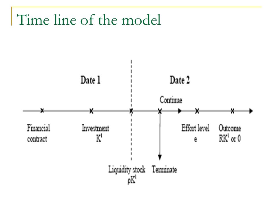 Time line of the model