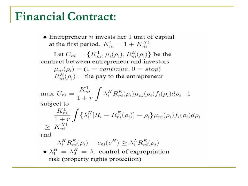 Financial Contract: