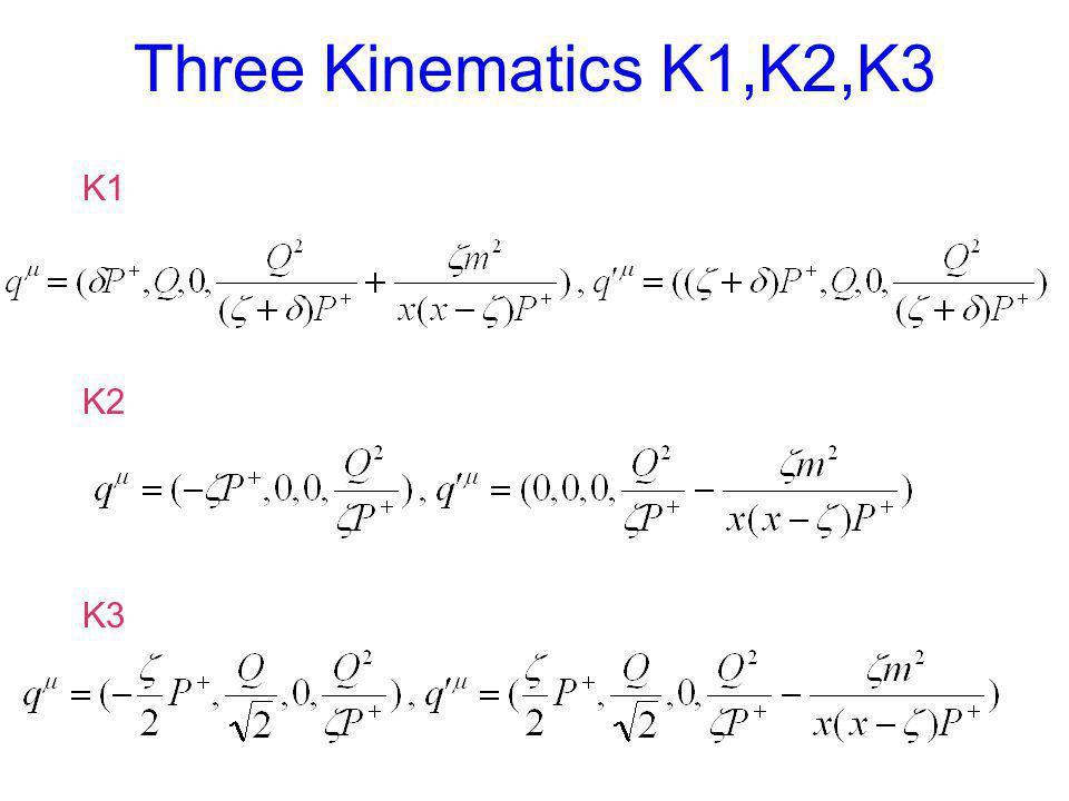 Three Kinematics K1,K2,K3 K1 K2 K3