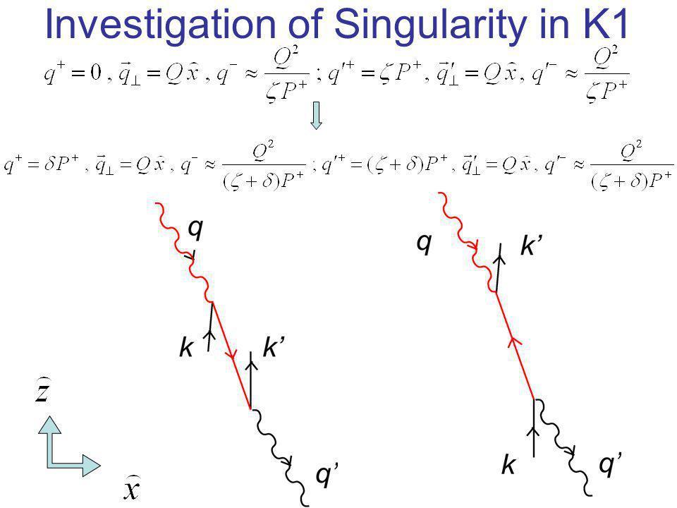 Investigation of Singularity in K1