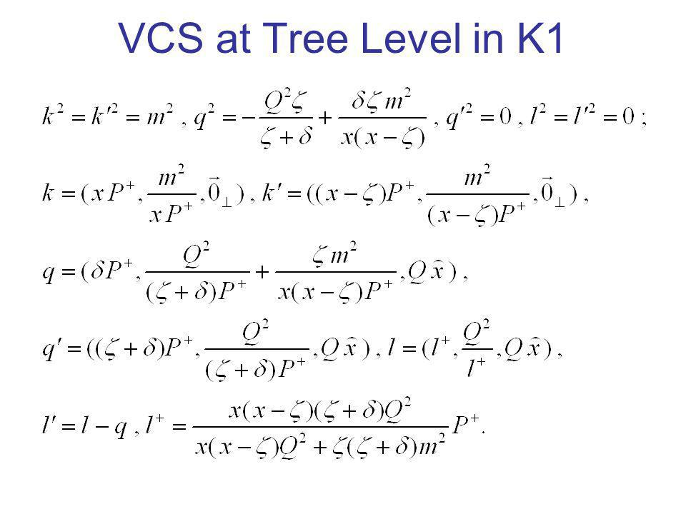 VCS at Tree Level in K1