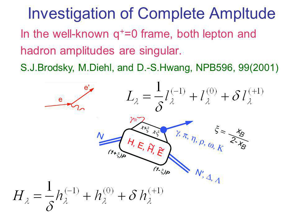 Complete Amplitude and Constraints There should not be any singularity in complete amplitude.