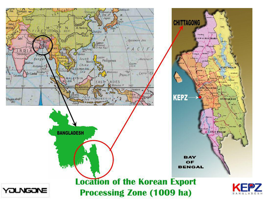 Location of the Korean Export Processing Zone (1009 ha)