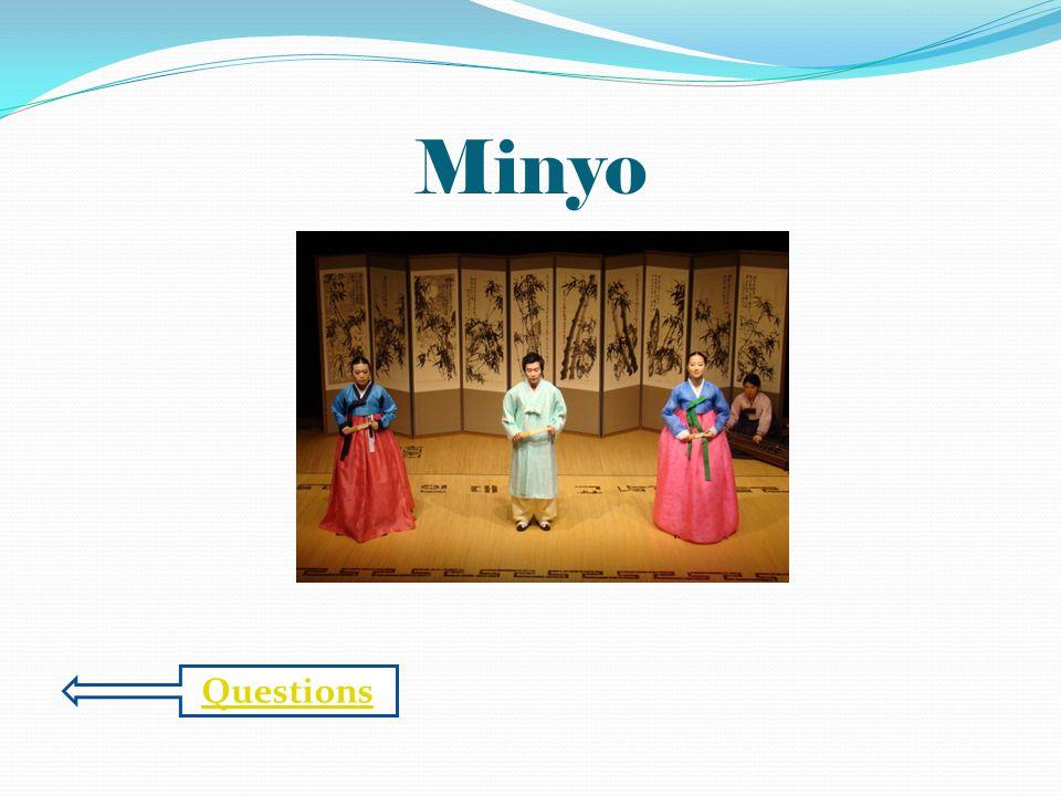 Questions Minyo