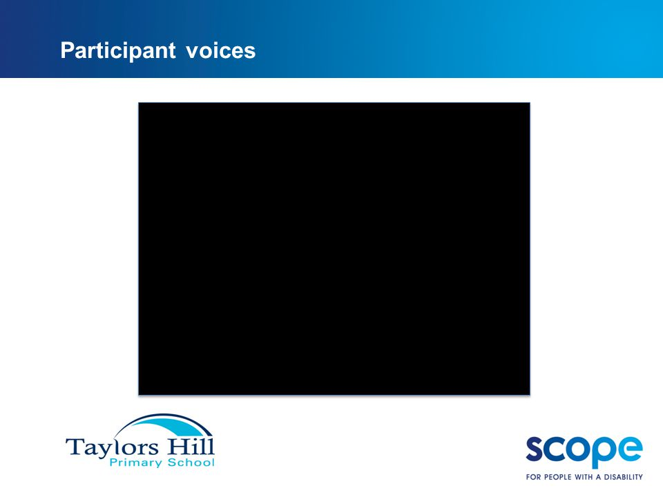 Participant voices