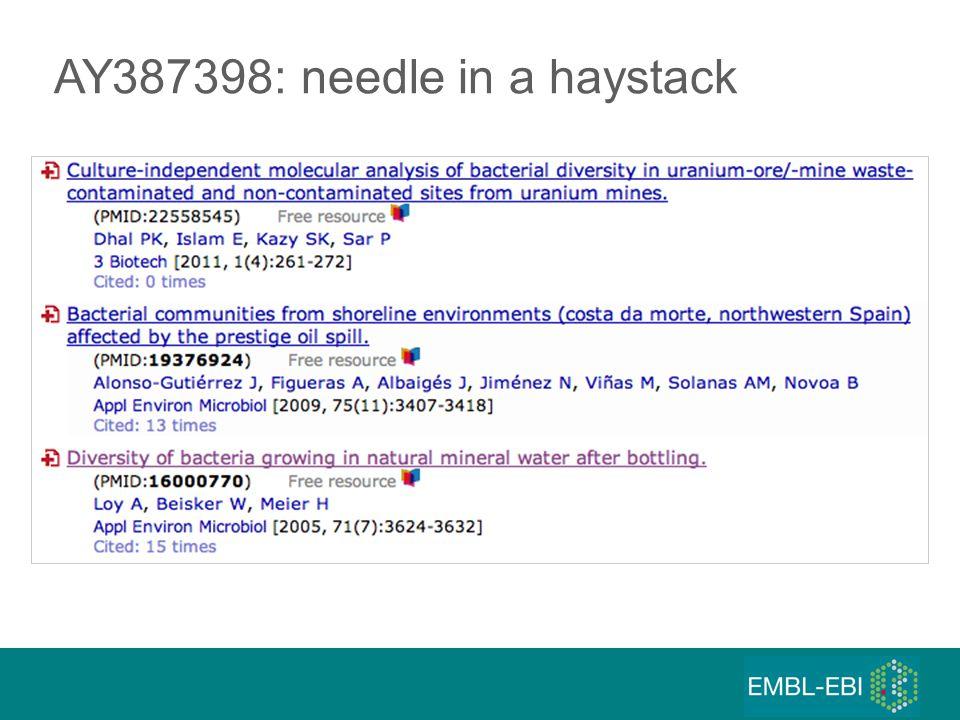 AY387398: needle in a haystack
