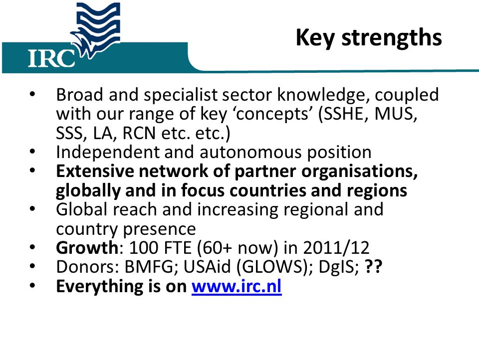 Broad and specialist sector knowledge, coupled with our range of key 'concepts' (SSHE, MUS, SSS, LA, RCN etc.