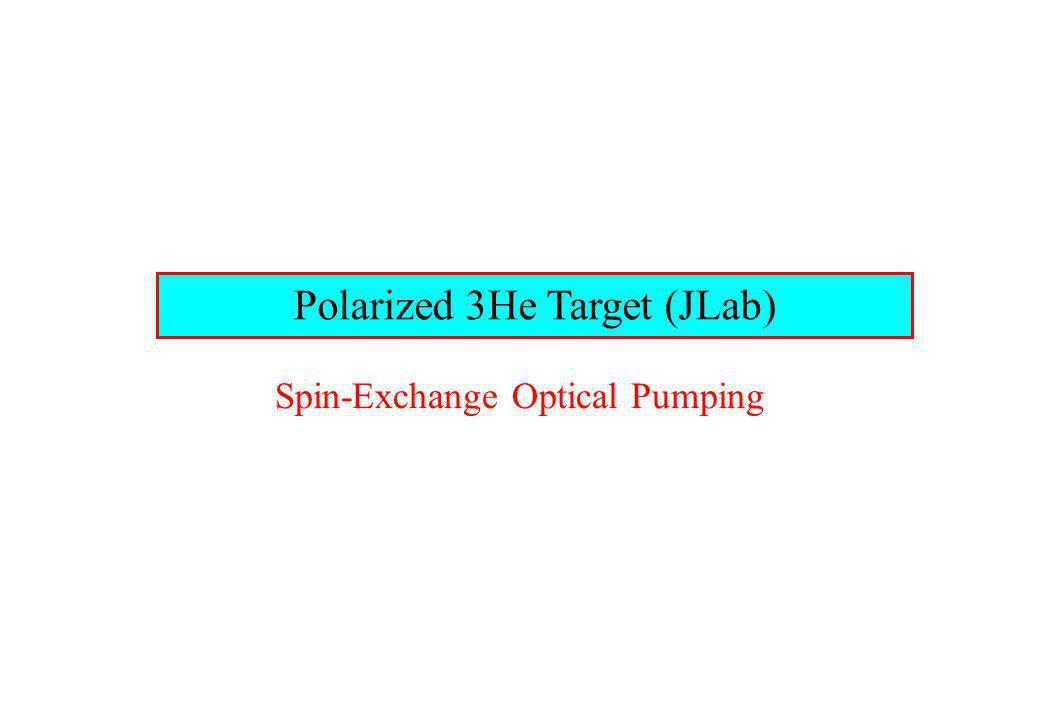 Polarized 3He Target (JLab) Spin-Exchange Optical Pumping