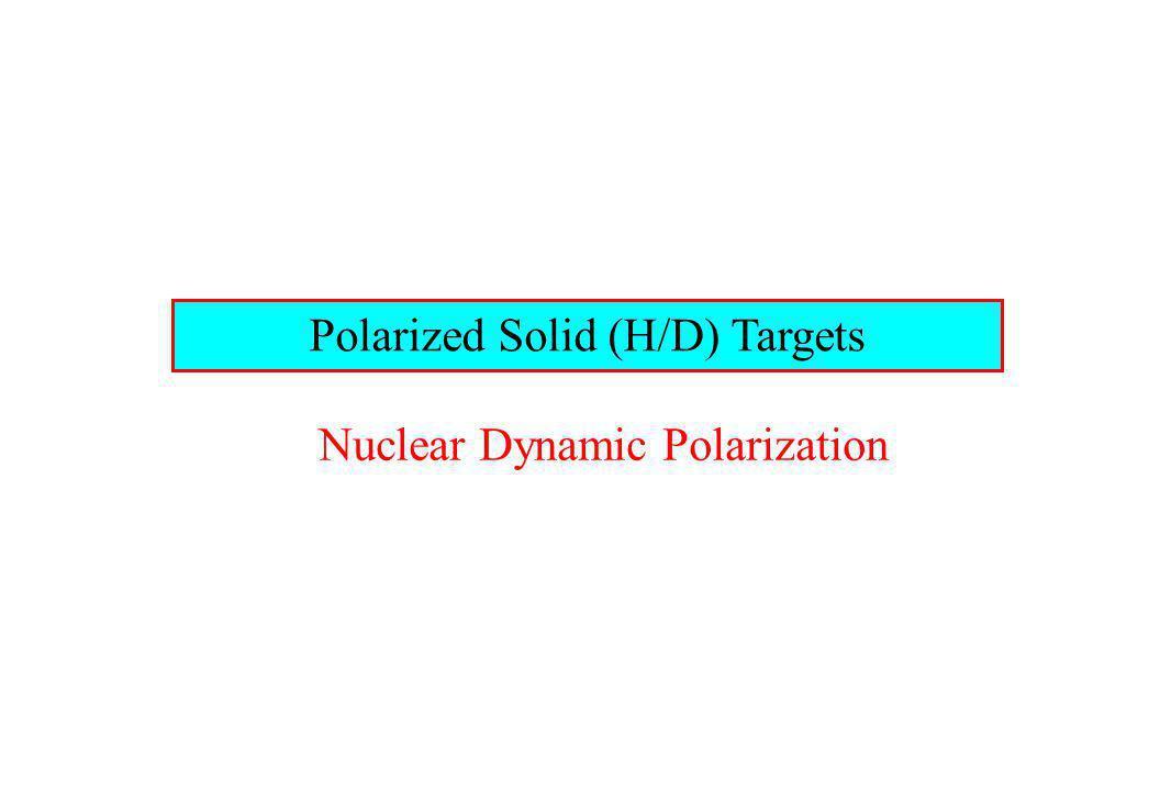Polarized Solid (H/D) Targets Nuclear Dynamic Polarization