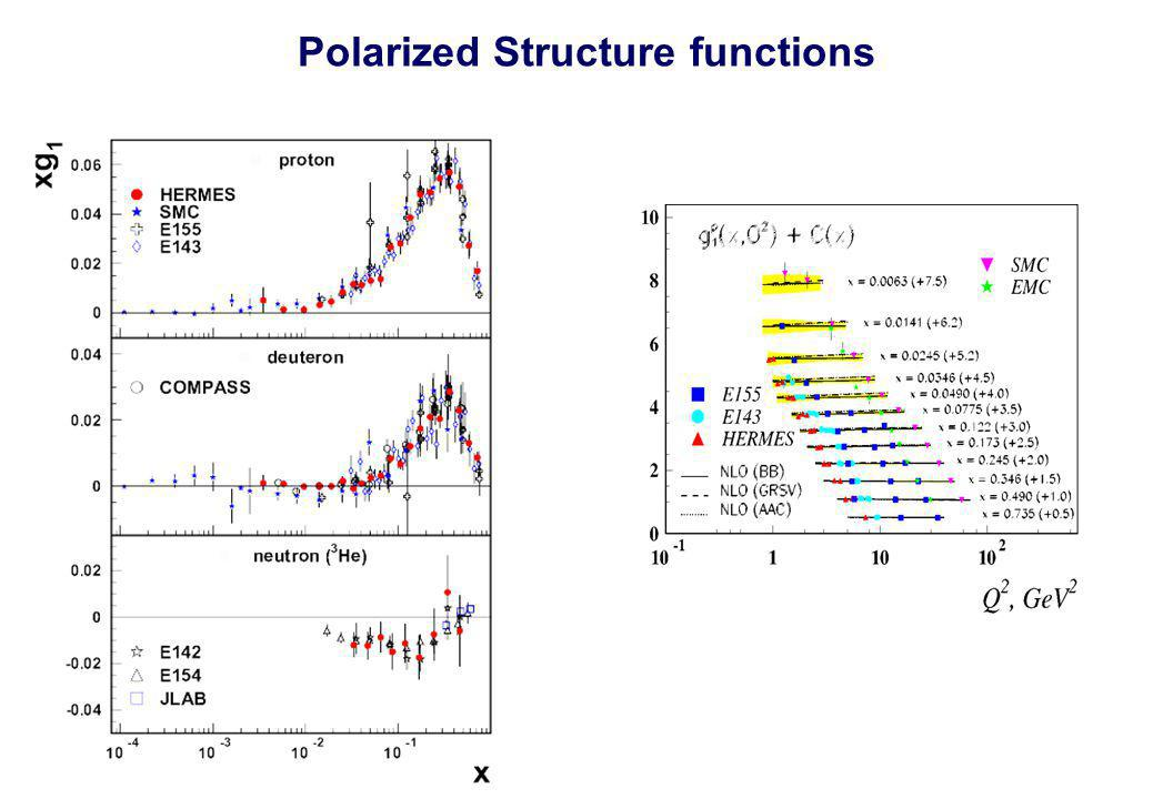 Polarized Structure functions