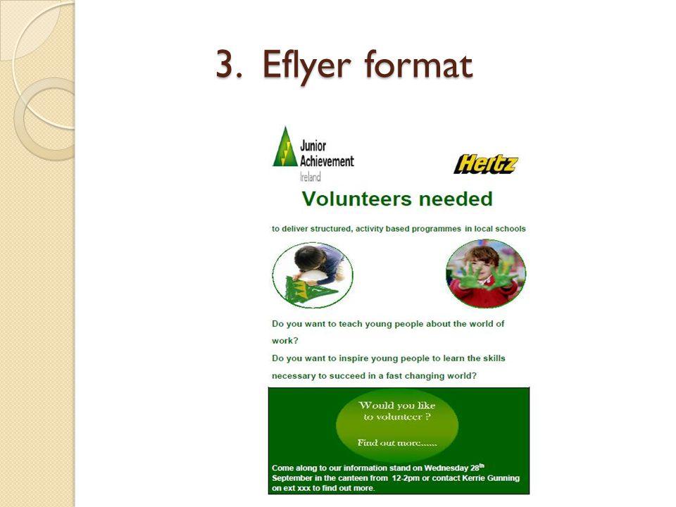 3. Eflyer format 3. Eflyer format