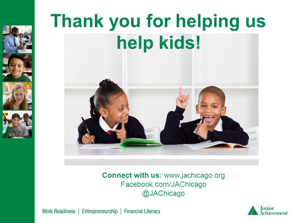 Thank you for helping us help kids.