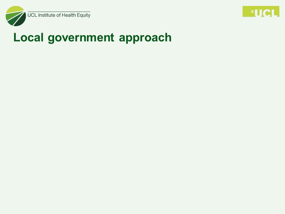 Local government approach