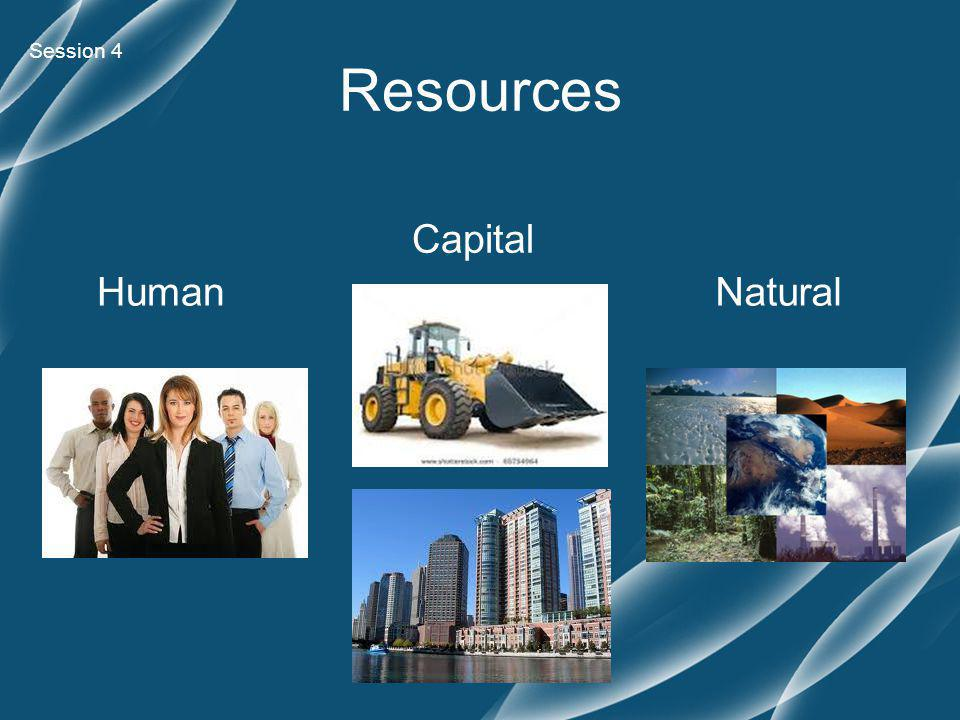 Session 4 Human Capital Natural Resources