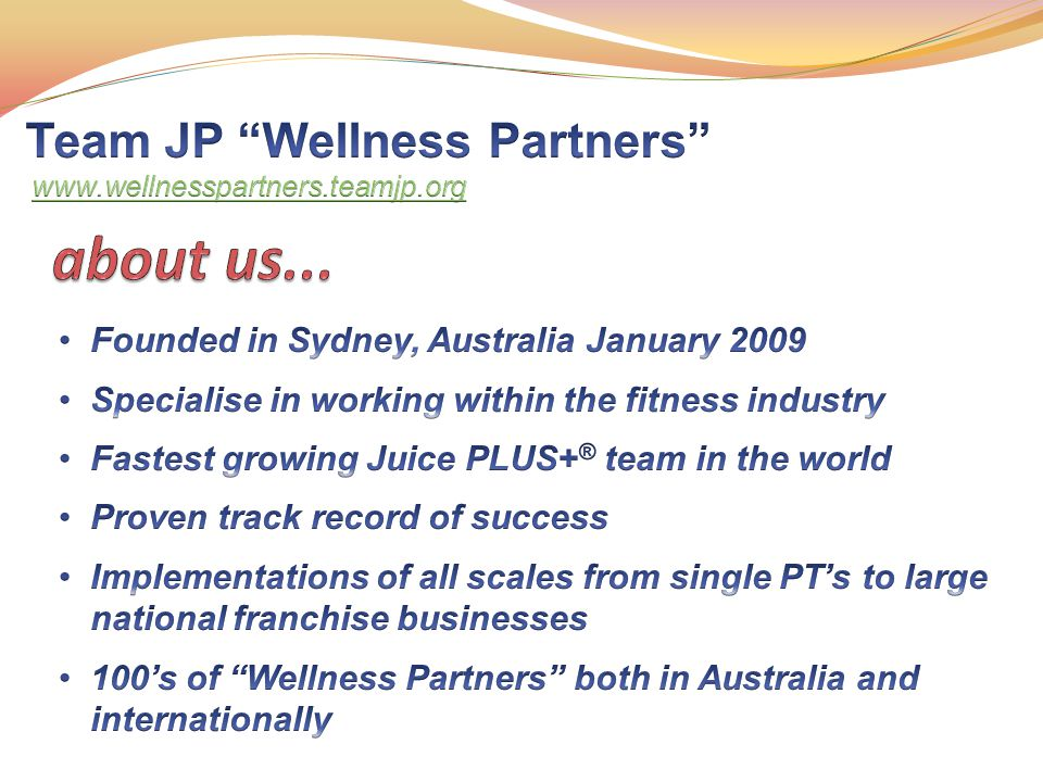 Juice Plus+® has been the subject of many clinical studies; These studies have analysed and determined what s in it, where it goes in the body and what it does when it gets there THE WORLDS MOST RESEARCHED NUTRICEUTICAL THE WORLDS MOST RESEARCHED NUTRICEUTICAL GOLD STANDARD, PEER REVIEWED, PUBLISHED STUDIES