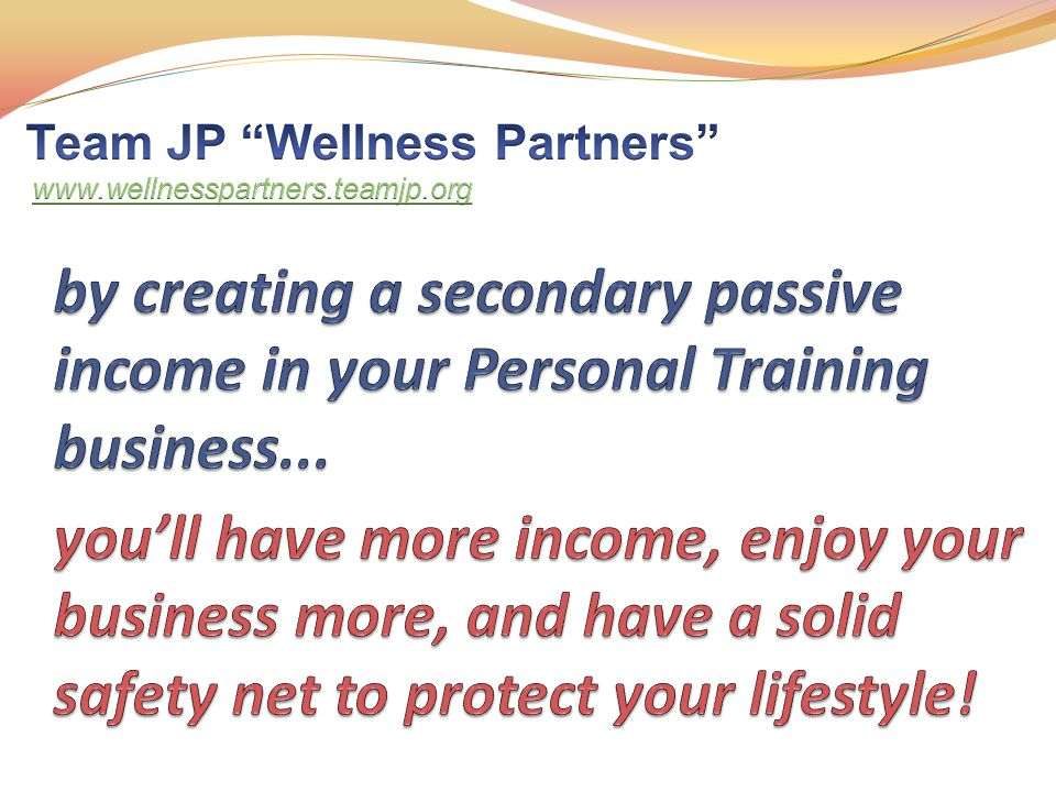 the perfect additional business for Personal Trainers and Fitness Professionals
