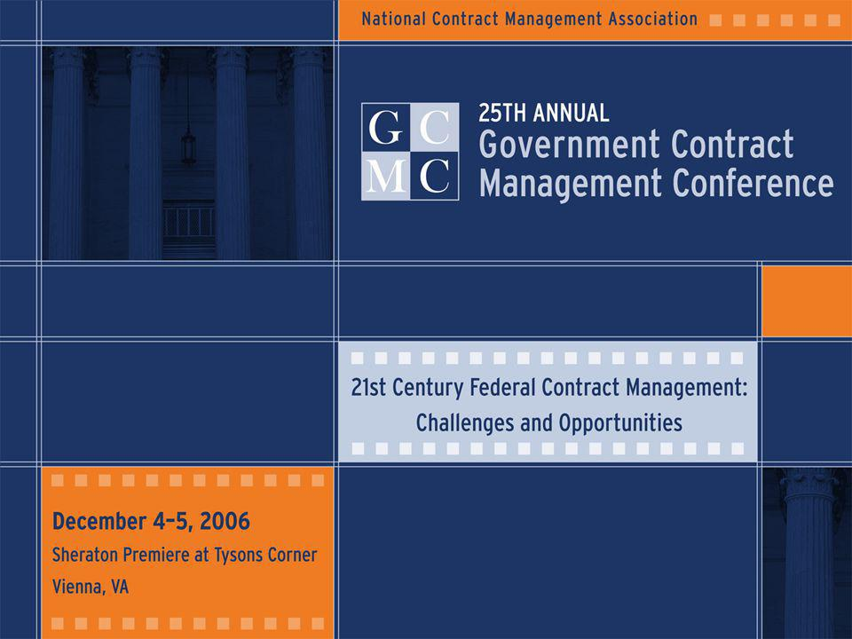 22 December 4-5, 2006 Sheraton Premiere at Tysons Corner Vienna, VA NCMA 25th Annual Government Contract Management Conference 21st Century Federal Contract Management: Challenges and Opportunities JS Solution: Automating Business Rules & Processes Built-in acquisition package development guidance Electronic routing process Secure approval and digital signatures Standardized procedures, documents/templates Provides 'real-time' status with MS Outlook notifications of changes Configurable