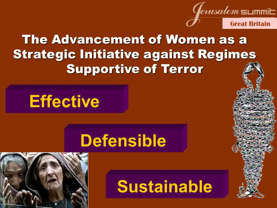 Great Britain Effective Defensible Sustainable The Advancement of Women as a Strategic Initiative against Regimes Supportive of Terror