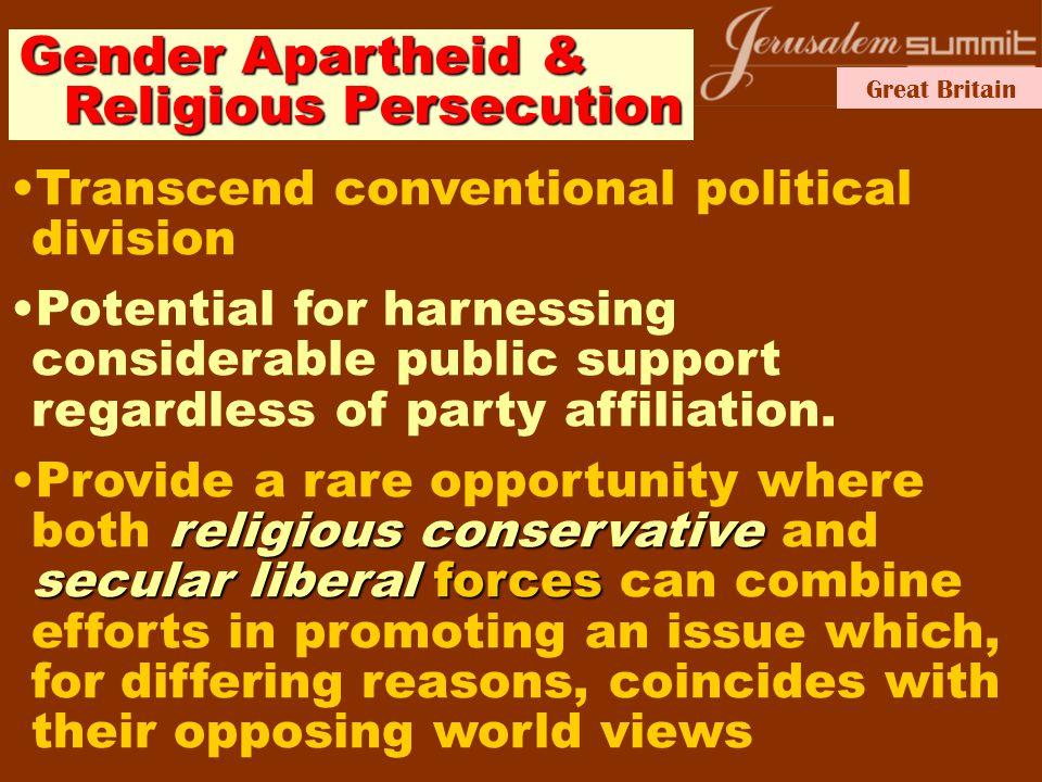 Great Britain Gender Apartheid