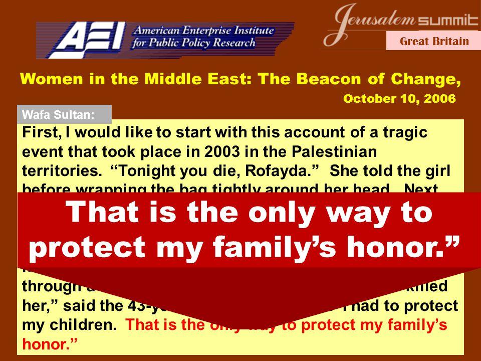 Great Britain Arab development Self-doomed to failure Friday June 9th 2006