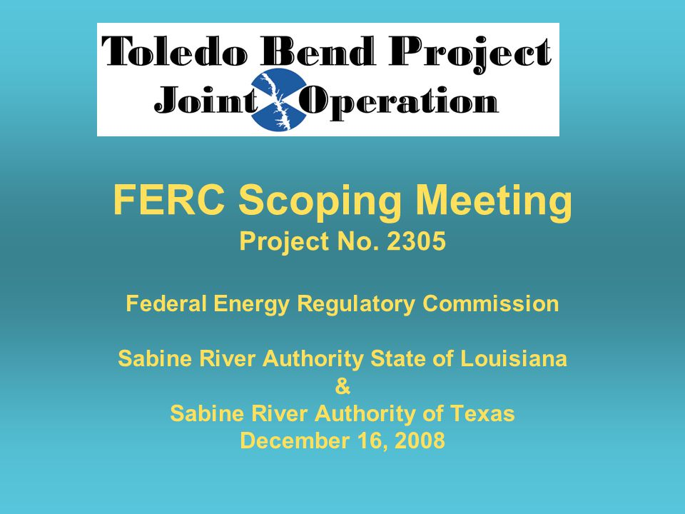 FERC Scoping Meeting Project No.