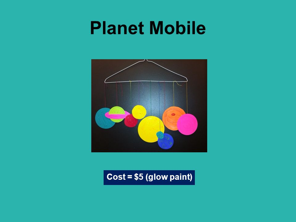 Planet Mobile Cost = $5 (glow paint)