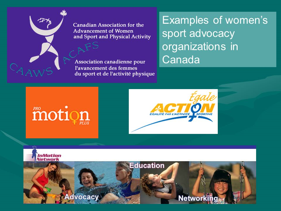 Examples of women's sport advocacy organizations in Canada