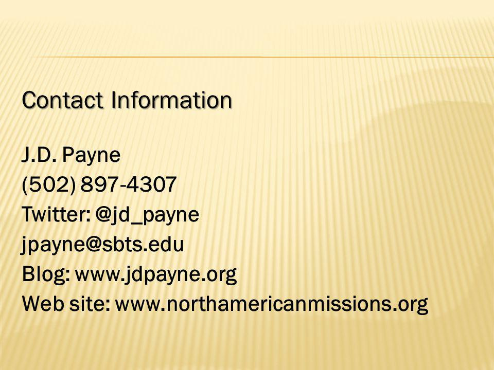 Contact Information J.D.