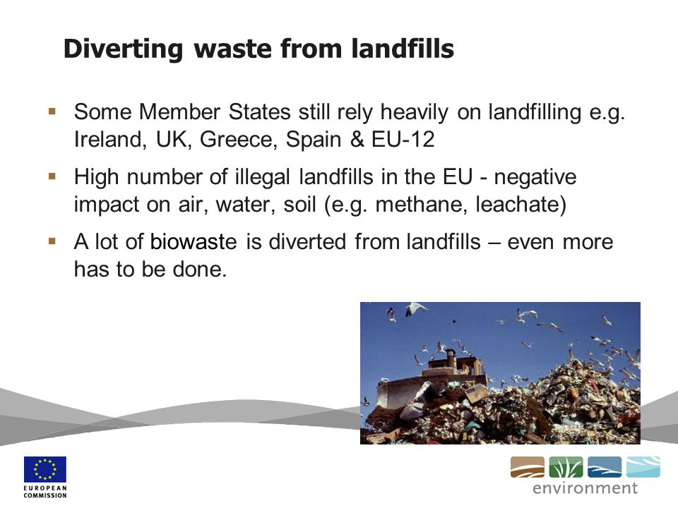 Diverting waste from landfills  Some Member States still rely heavily on landfilling e.g.