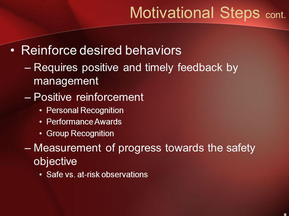 8 Motivational Steps cont.