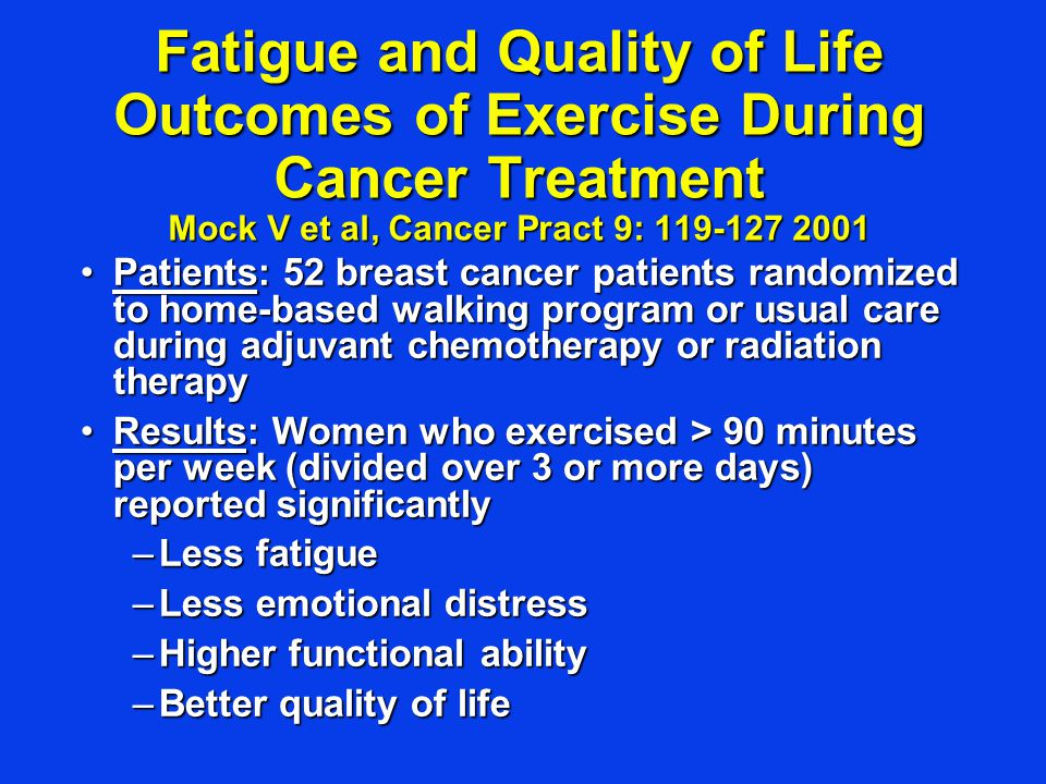 Exercise and Breast Cancer Post- Treatment