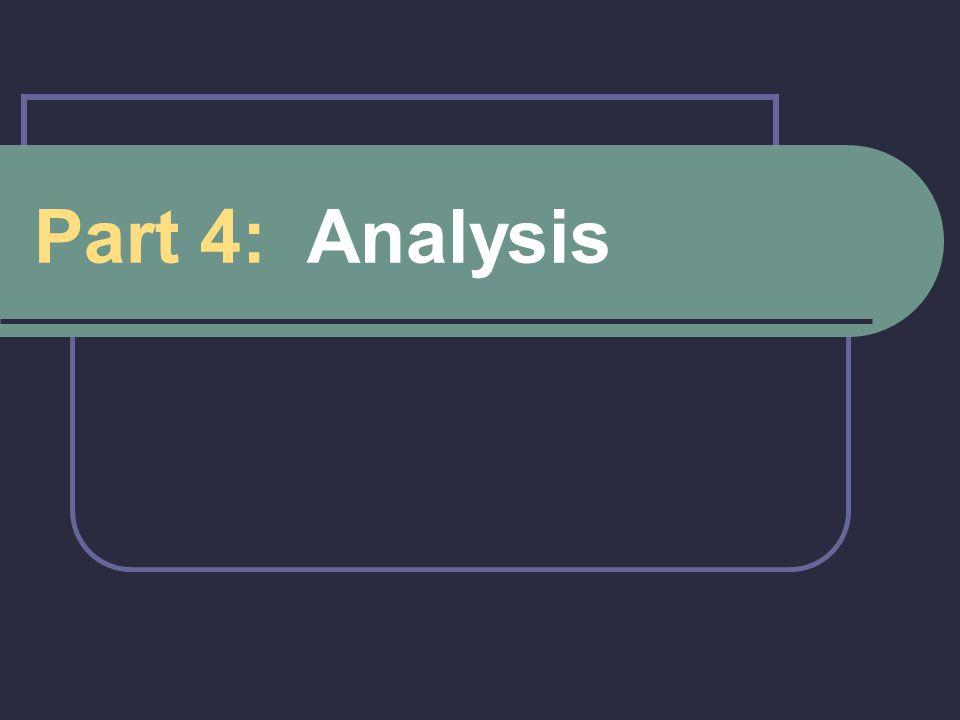 Part 4: Analysis