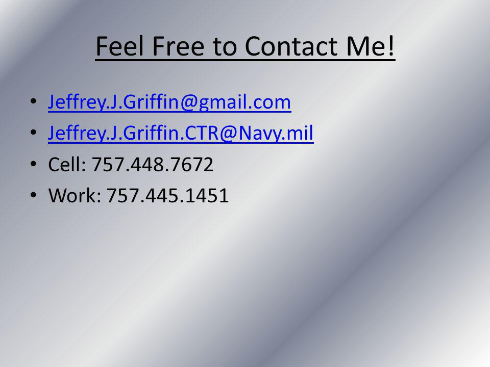 Feel Free to Contact Me.