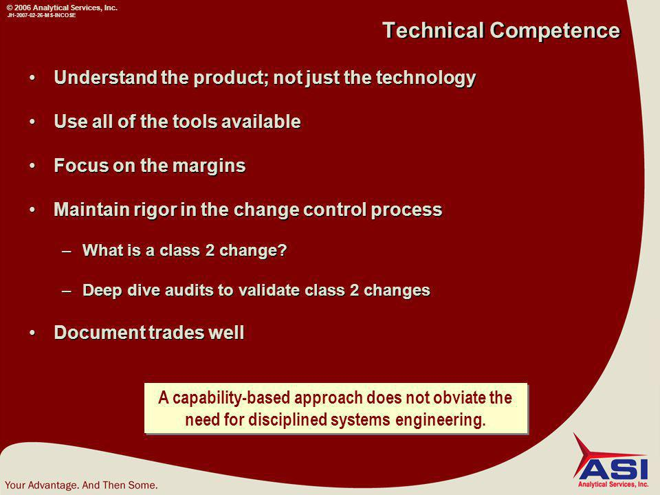 © 2006 Analytical Services, Inc.