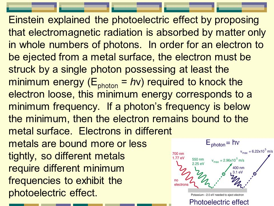 Albert Einstein expanded on Planck's theory by explaining that electromagnetic radiation has a dual wave-particle nature. While light exhibits many wa