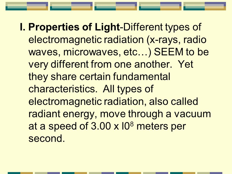 Arrangement of Electrons in Atoms (Chapter 4) Notes Part 1 Electromagnetic Radiation