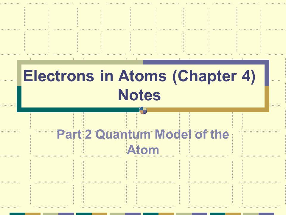 V. Bohr's Theory of the Atom:
