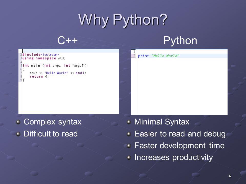 4 Why Python.