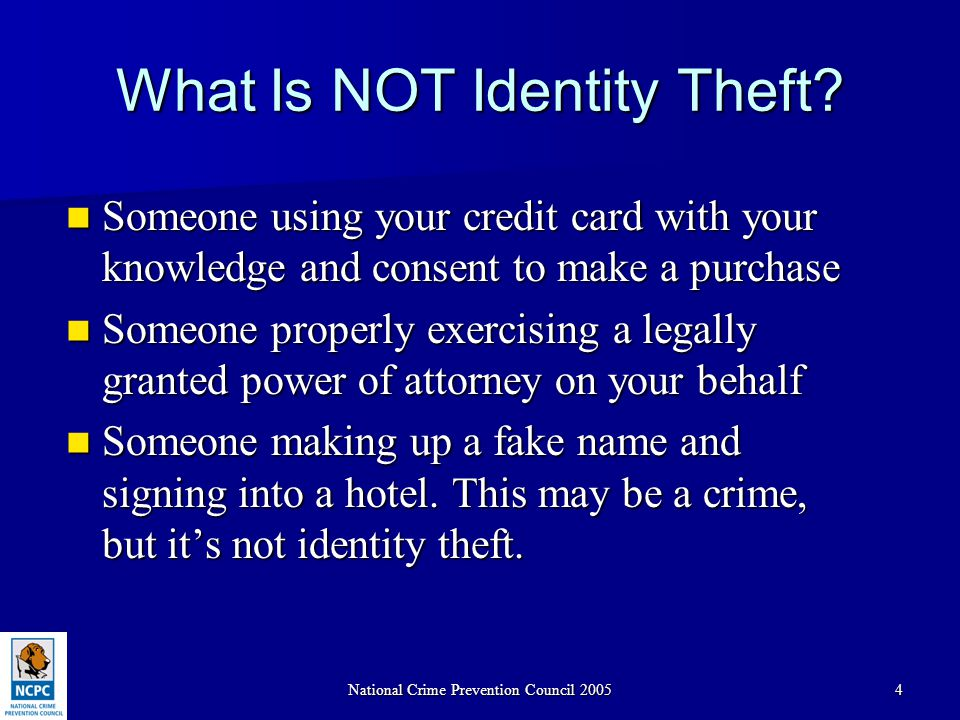 National Crime Prevention Council 200545 Online Resources Many nonprofit organizations are committed to promoting prevention and recovery from identity theft.