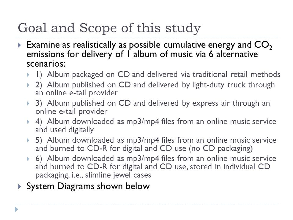Summary Statistics  CD/packaging production: 32-69% of total  Customer Transport and Last Mile: 52% of retail, 24-28% etail  Other significant contributors (Retail/Etail)  Warehousing  Retail Store  Individual cardboard packaging (Etail)  Upstream internet usage:  As important as CD/CD-R production