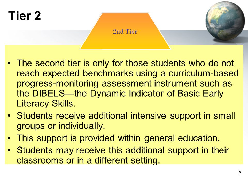 59 Tier 3 This phase starts with a referral to a Teacher Assistance Team or a Child Study Team.